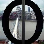 Blick auf MILLENIUM BRIDGE