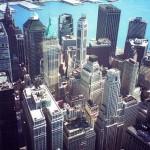 Blick durch die Scheiben vom WTC