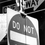 Straßenschild NY
